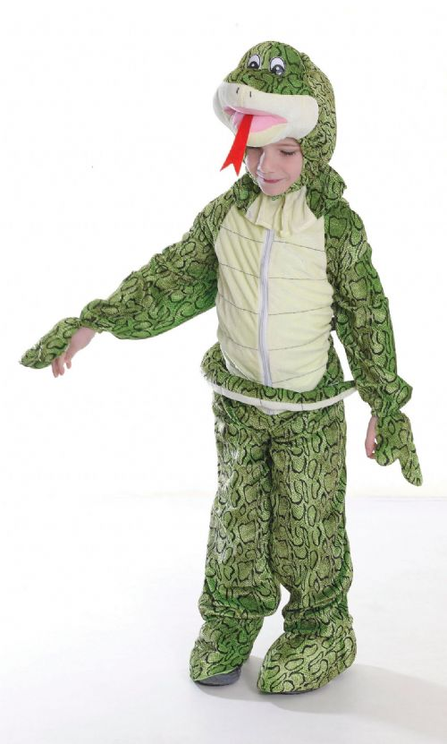 Childs Snake Costume Halloween Serpant Fancy Dress Outfit